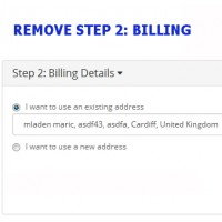 Remove Billing Details - checkout step 2