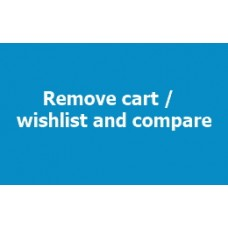 Remove Cart / Wishlist and Compare